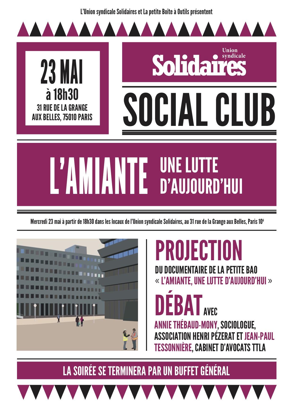Solidaires social club Lamiante, une lutte daujourdhui