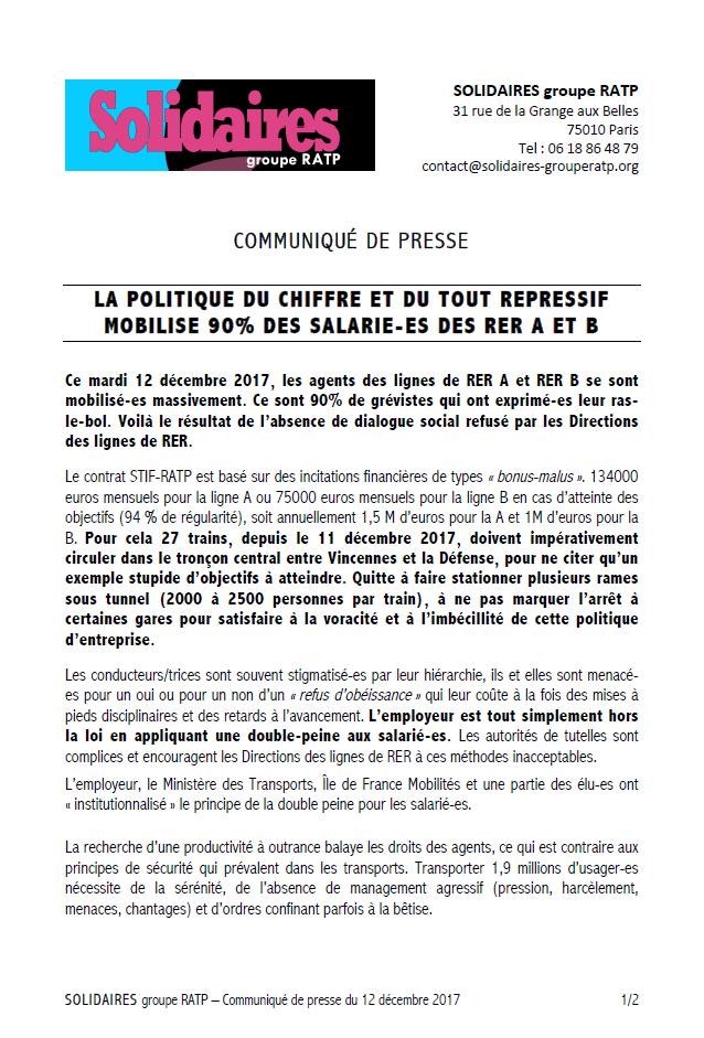 La politique du chiffre et du tout r pressif mobilise 90 - 13 rue de la grange aux belles 75010 paris ...