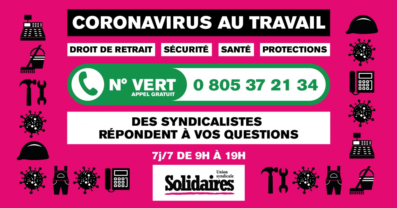 numéro vert de solidaires avril 2020